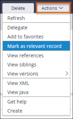 SLA rules that are marked as relevant records in Dev Studio are available in App             Studio