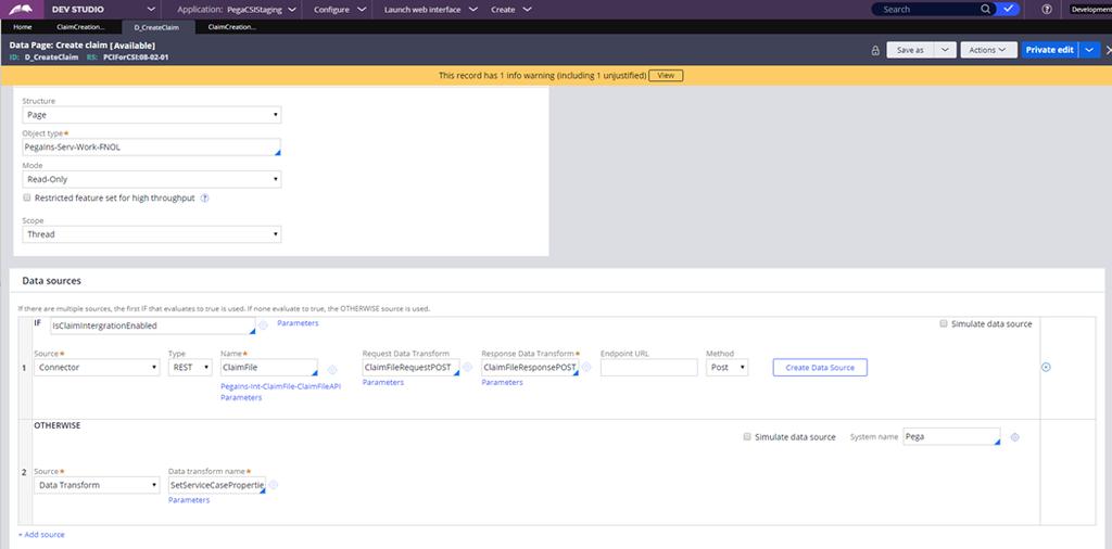 D_CreateClaim data page