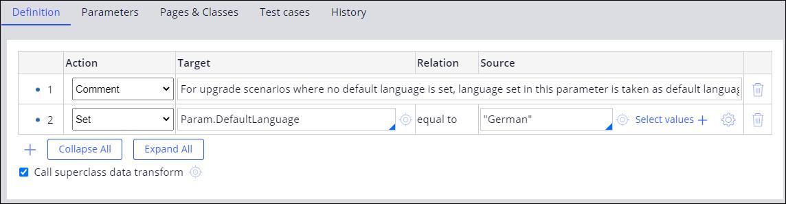 Default language for email bot overridden to German in the                                 GetDefaultLanguage data transform