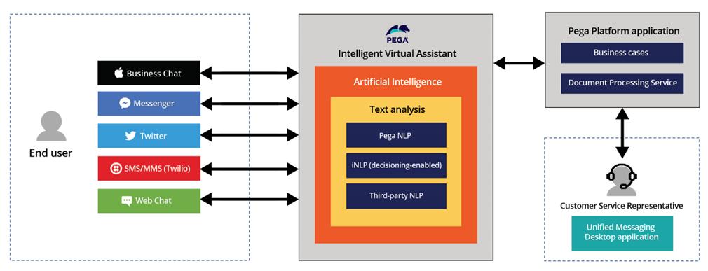 Pega Intelligent Virtual Assistant components