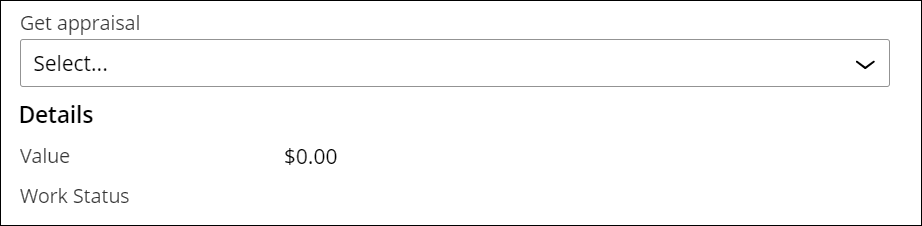 The case reference field is an autocomplete field with an attached view                         that includes the value and work status fields.