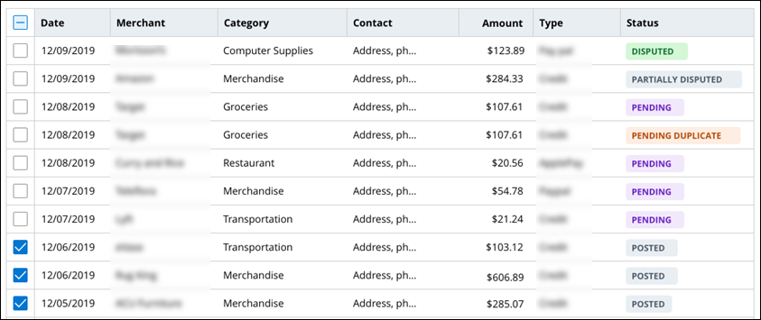The UI displays the data reference entries as a table.