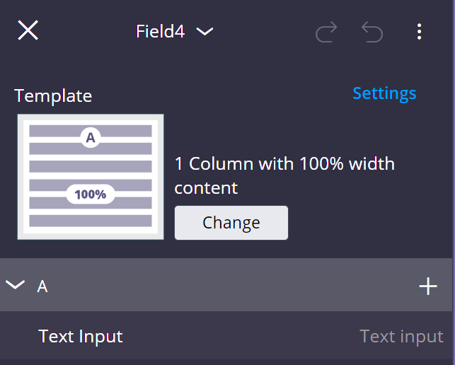 Right pane displays the default content for the new                                         section