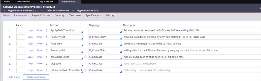 ClaimCreationProcess flow rule
