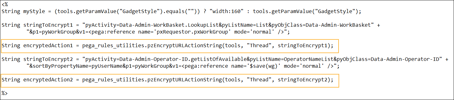 An example of URL encryption in JavasScript