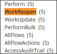 The work reopen privilege in the PegaRULES:WorkMGR4 role