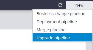 Upgrade pipeline template