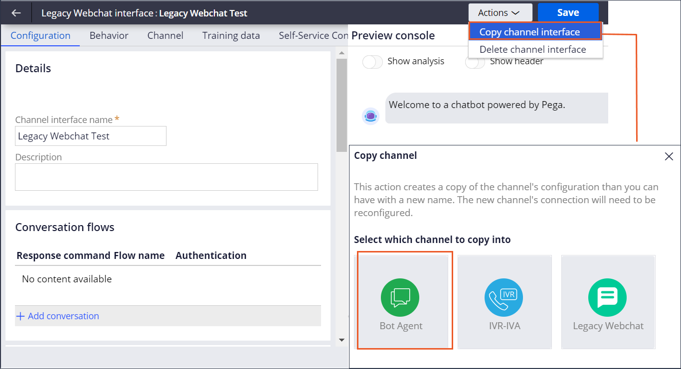 Switching from Legacy Webchat to Digital Messaging                                     interface