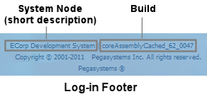 Log-in form footer