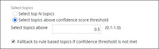 Configuration of the confidence score threshold.