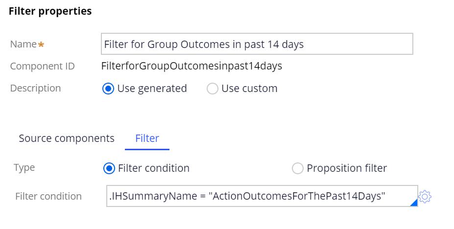 Sample Filter shape properties