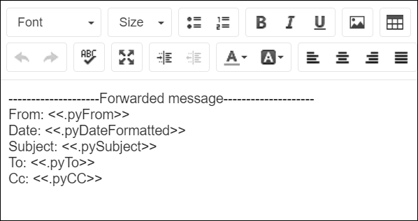The forward message header rule contains information about the original sender of the             message.