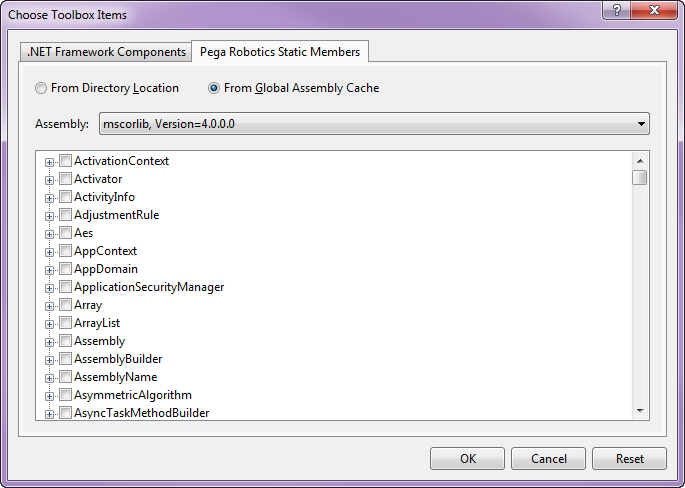 List of files on the Choose Toolbox Items dialog