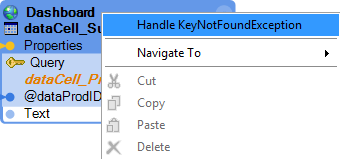 Handle KeyNotFoundException in the right-click menu