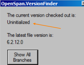 Example Version Finder dialog