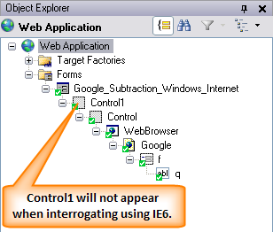 Why are there extra controls in Object Explorer when interrogating