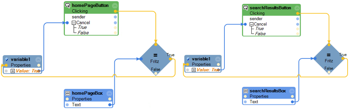 Handling cancellable events example