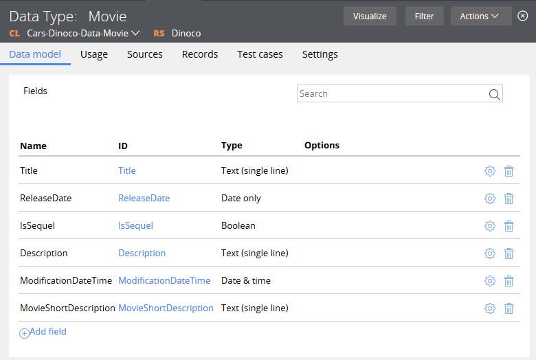 Movie data type