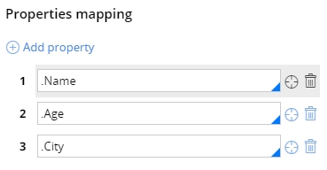 CSV property mapping