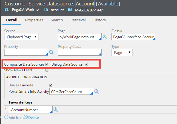 The Composite Data Source and Dialog Data Source check boxes