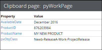 pyWorkPage clipboard page with setup data transform applied