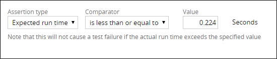 Expected run-time assertion