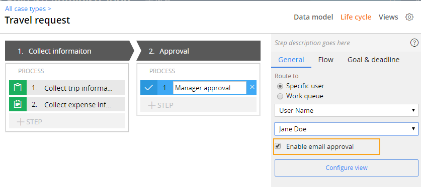 Enable email approval in express mode