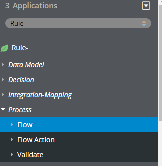 Flow instance list in the Application Explorer