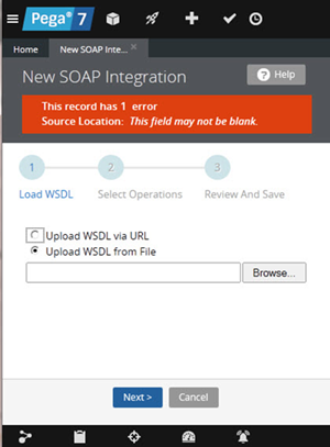 New SOAP Integration error for Upload WSDL from File