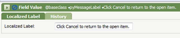 <alt+text=Field Value pyMessageLabel Click Cancel to return to the open item>