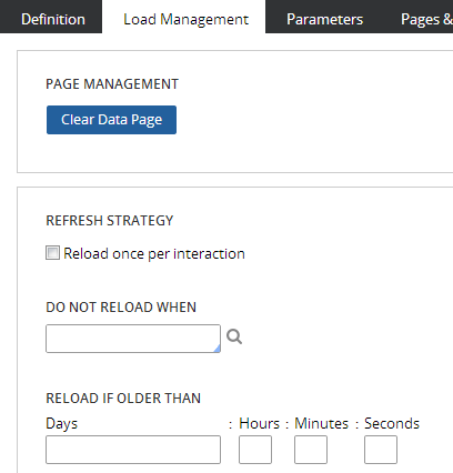 Refresh strategy section