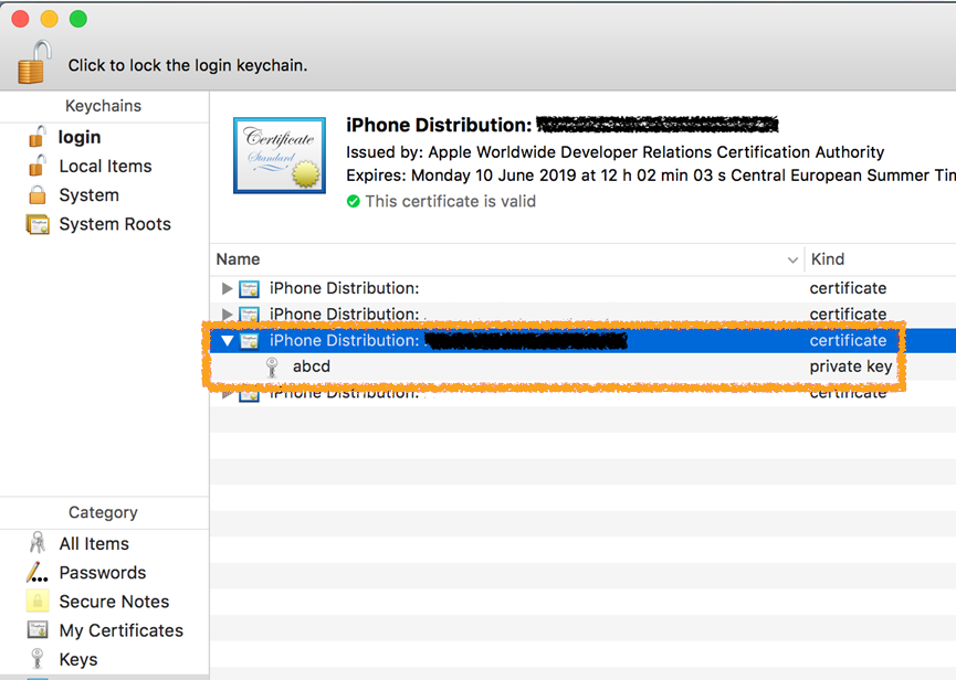 Creating a distribution certificate for signing iOS apps | Pega