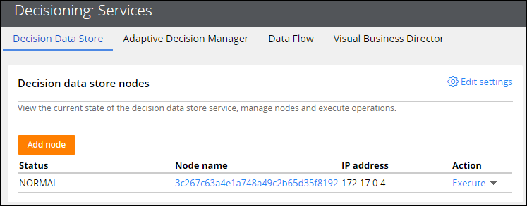 Decision Data Store service