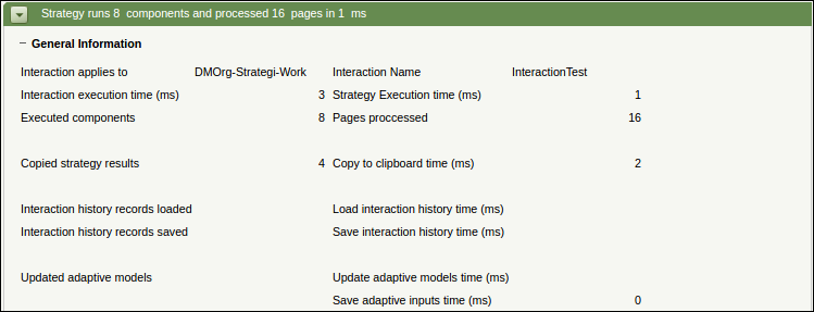 General information about running a strategy through an interaction rule