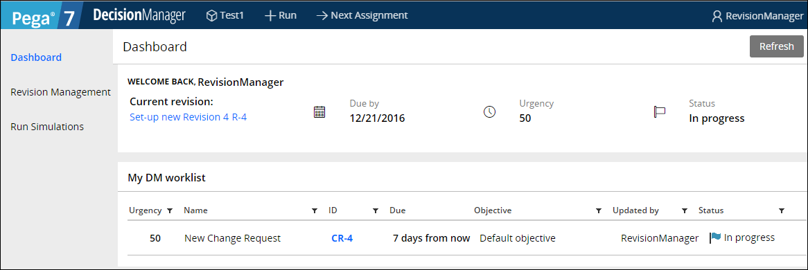 Decision Manager portal