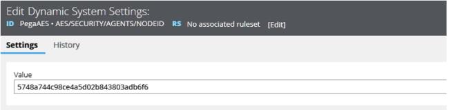 DSS AESAgentsNODEID shows new running node