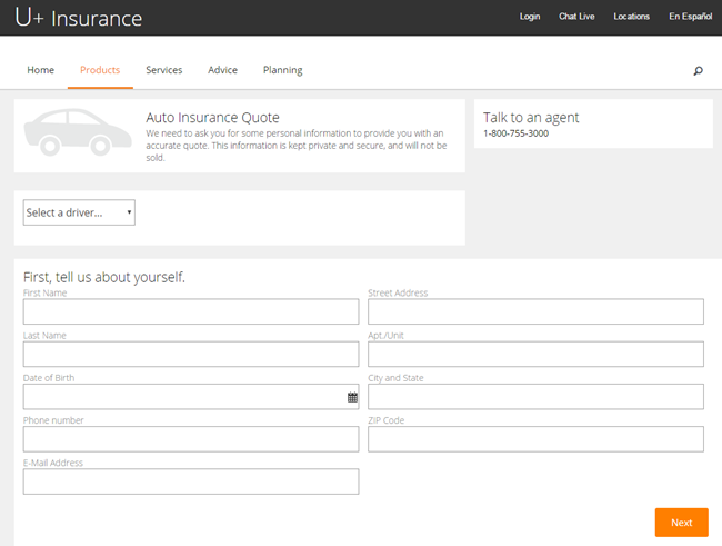 A Pega Web Mashup showing an insurance quote case