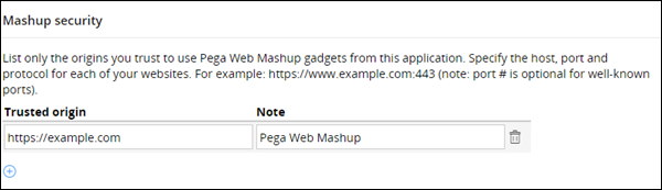 Configuring mashup security