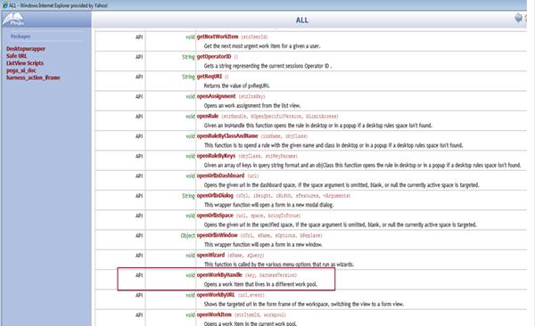 Pega API Package Desktopwrapper openWorkByHandle