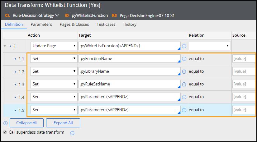 Overwriting pyWhitelistFunction data transform