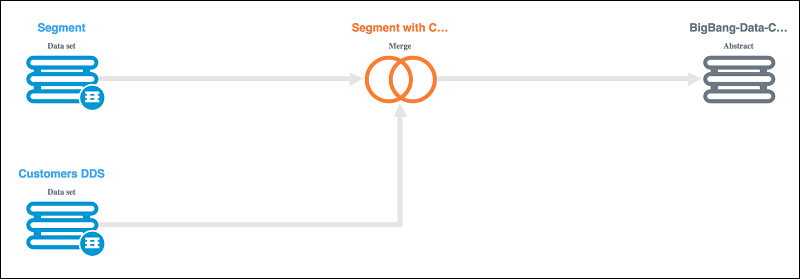 Merging customer data for the identified set of subjects in the DDS data set