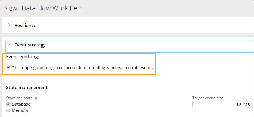 Emitting option for Tumbling windows