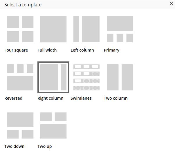 Default templates