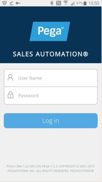 Application login