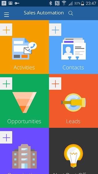 pega Sales Automation mobile app Launchpad