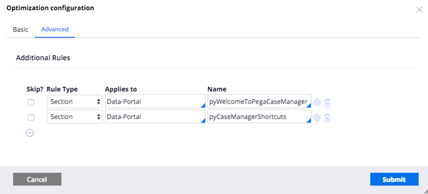 Case manager portal configuration for preflight optimization