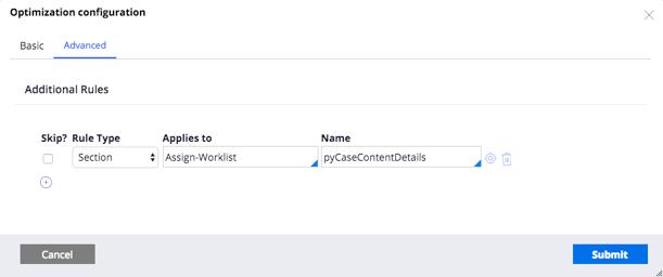 Caseworker configuration for preflight optimization