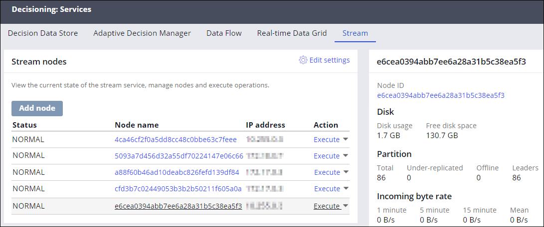 Stream service nodes