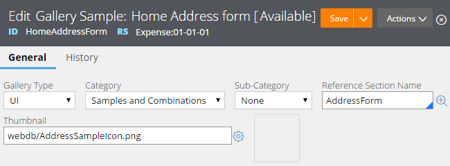 Fields to customize the Home Address form