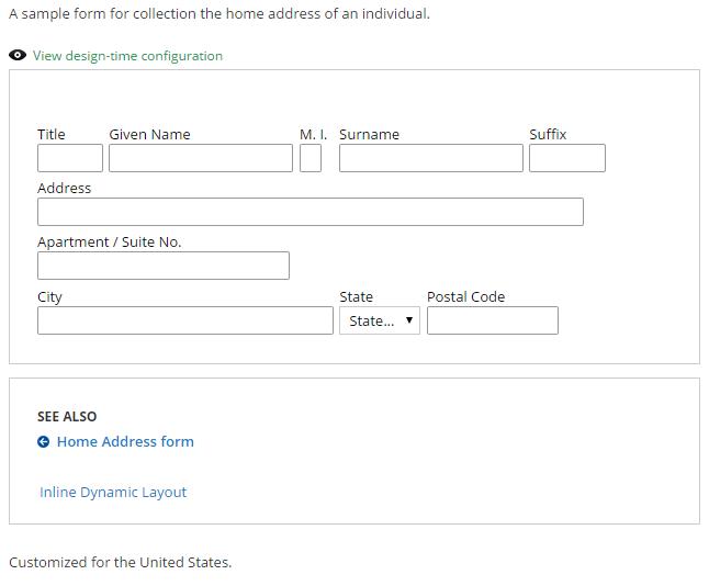 Home Address sample